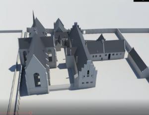 3D constructie Duitsche Huis ca. 1475